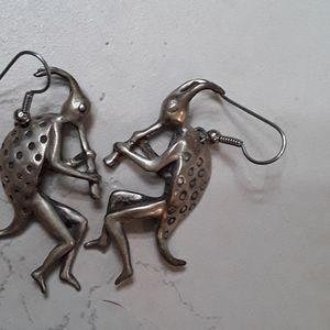 Jewelry - %100 Sante Fe,NM Sterling Silver Kokapeli Earrimgs